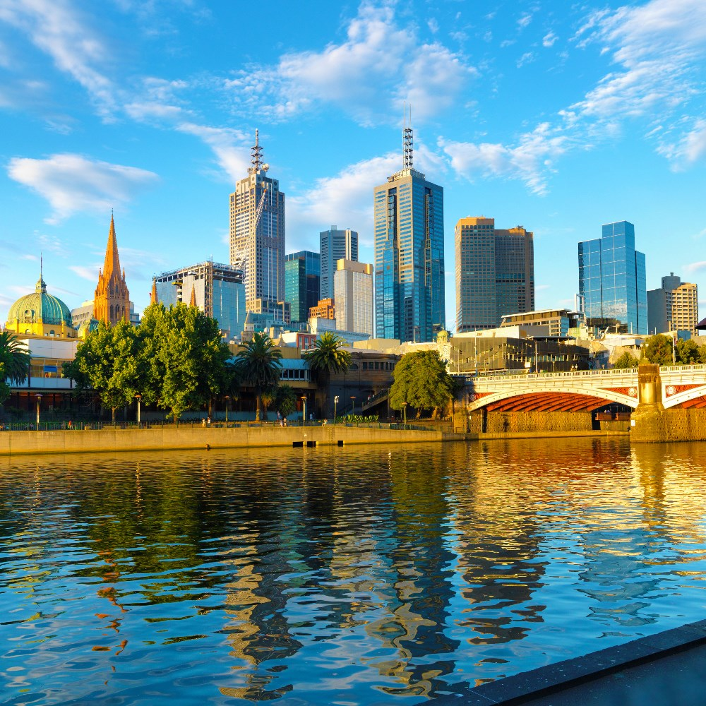 Yarra River in Melbourne City