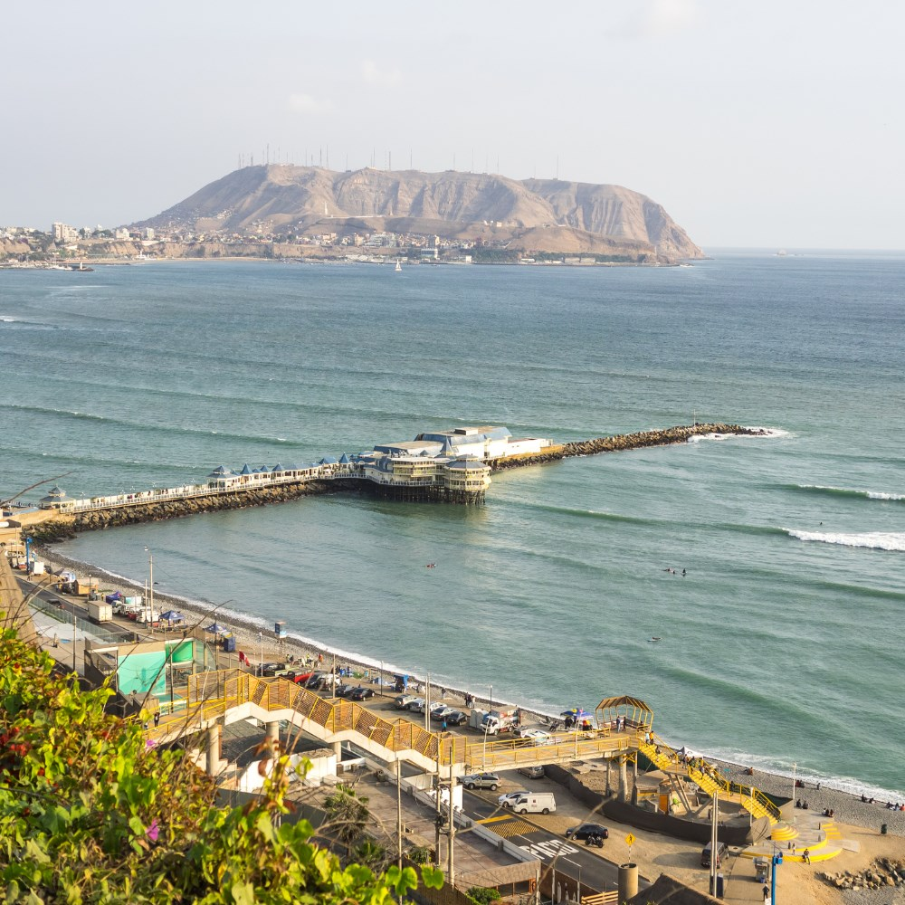 Pier and beach in Lima