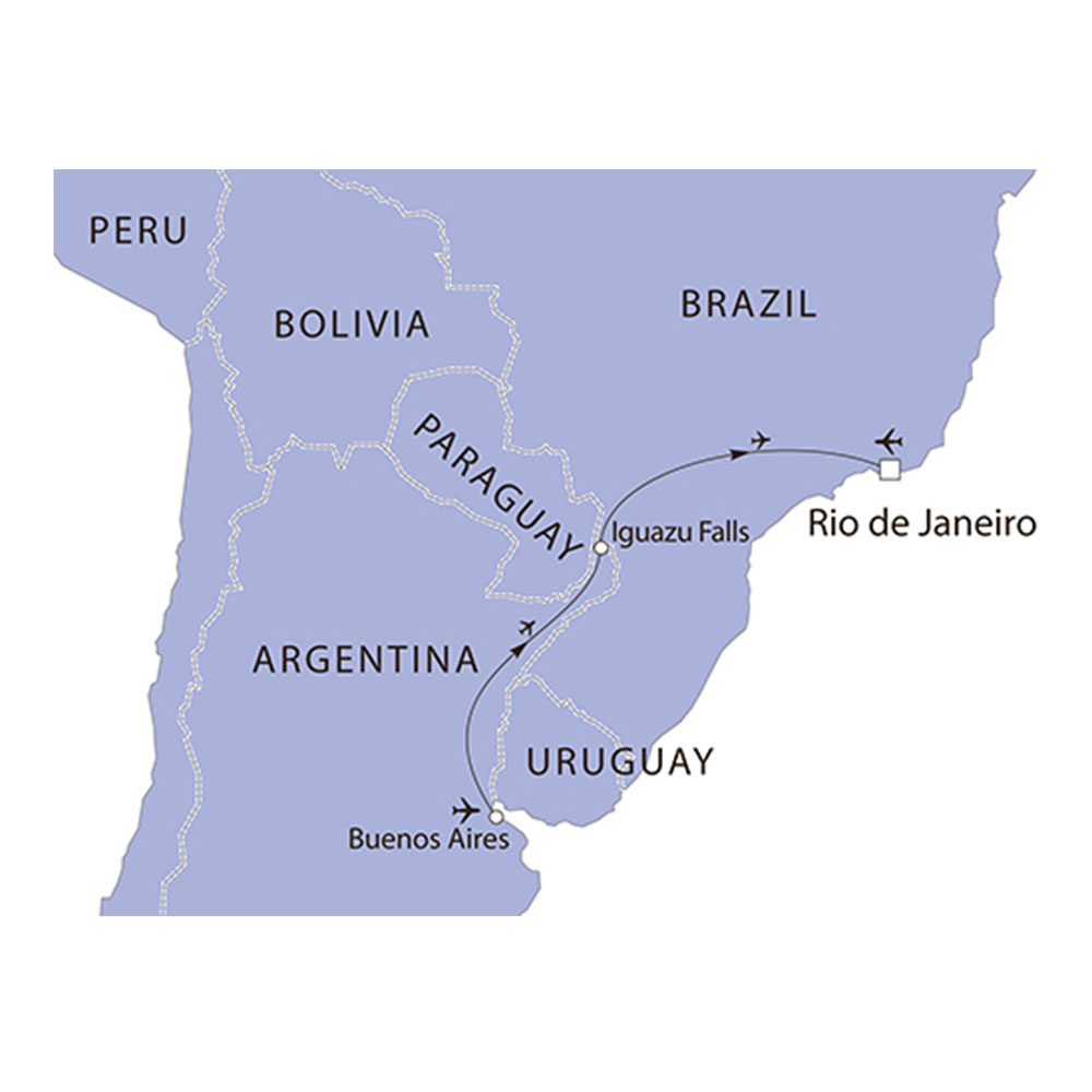 South America Highlights route map