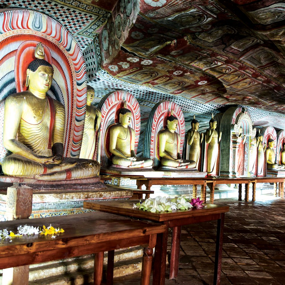 Buddha statues in the Dambulla Caves