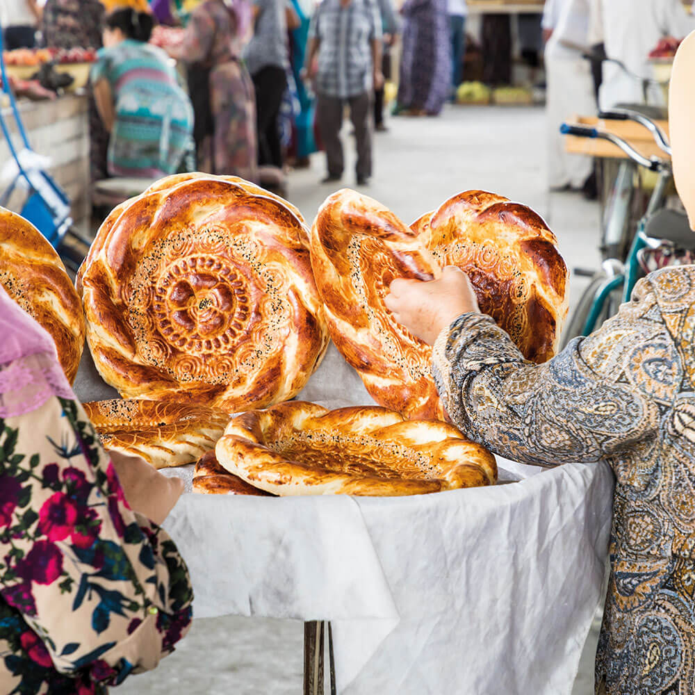 Traditional bread made by market bakers