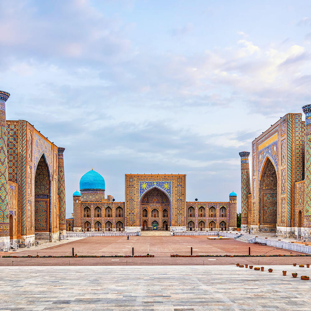 Historic Registan square in Samarkand