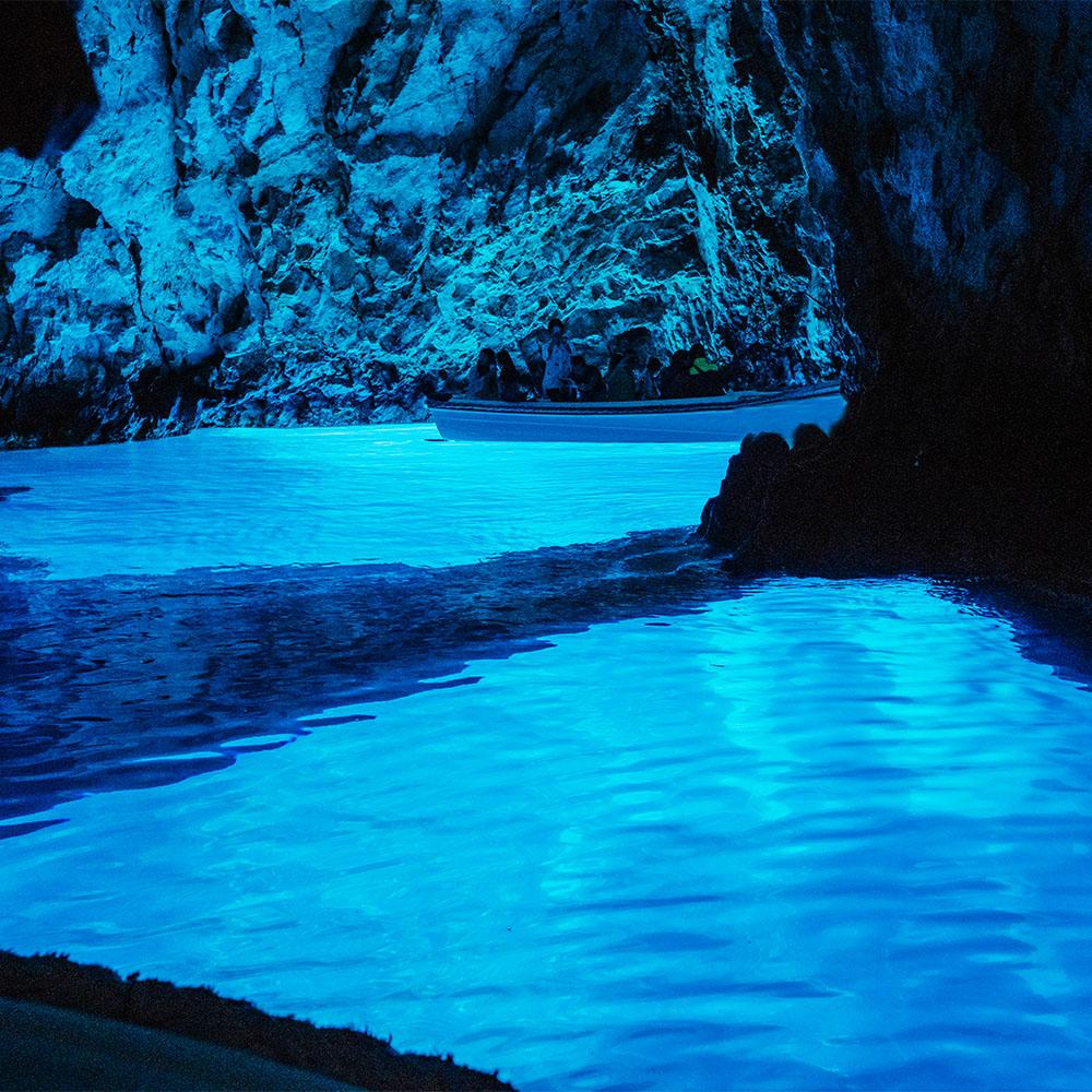 The famous Blue Cave